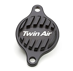Twin Air Oil Filter Cap, designed to cool better than OEM.